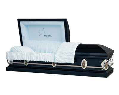 Heavenly Spruce Blue Casket