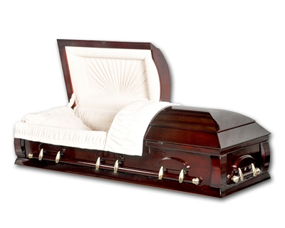 Presidential Solid Poplar Wood Casket With High Gloss