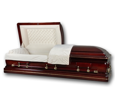 Elite Cherry Casket Coffin
