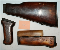 Russian wood early type 2 AK47 furniture set
