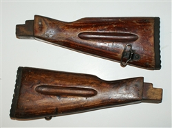 Russian AK-74 stock with rubber pad, take-off