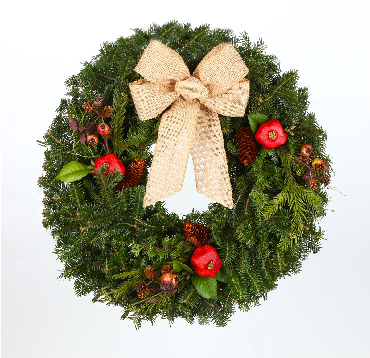 Christmas Wreath Images Free.24 In Country Real Fraser Fir Christmas Wreath Fresh Cut Live