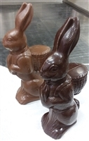 Bunny with Basket on Back in Belgian Milk Chocolate approx 1.5 lbs.