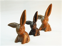 3 Dark Chocolate Bunnies