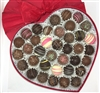 Red Heart Box with Bite-size Truffles