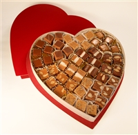 Red Heart Box with mixed Caramels