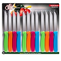 American made knives, kitchen knives made in USA, Alfi All-Purpose Aerospace-Precision Cutodynamic Knives 12 set PointedTip