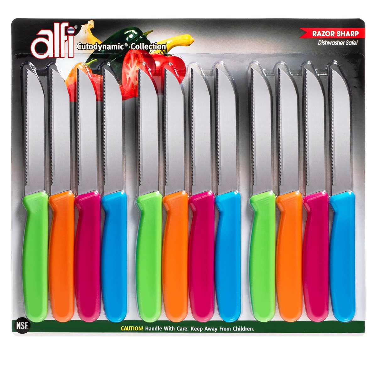 Alfi Cutodynamic High Performance All Purpose Made In Usa Knives Set Of 12 Pointed Tip