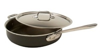 "10 1/2 x 2 9/16"" 3QT All-Clad® LTD, Non-Stick Sauce Pan w/Lid, cookware made in USA"