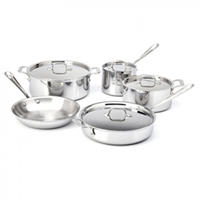 All-Clad® 9 Piece Stainless Cookware Set, cookware made in USA