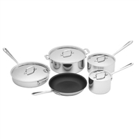 All-Clad® 9 Piece Non-Stick Stainless Cookware Set, cookware made in USA