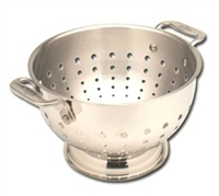 10 3/8 x 6 1/4 5 QT All-Clad Stainless Colander, cookware made in USA