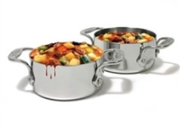 "4 1/2 x 2 1/2"" All-Clad®  Stainless Soup Souffle Ramekins, Cookware Made in USA"
