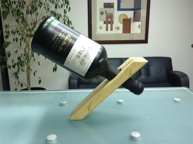 alfi s gravity defying artisanal wine bottle stand the perfect gift