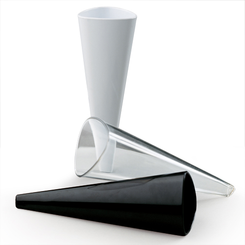 White Cone Shaped Glass for Catering