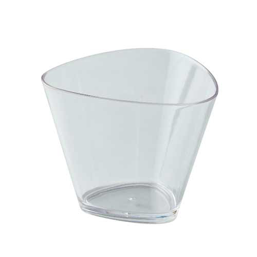 White Triangular Plastic Cup for Catering