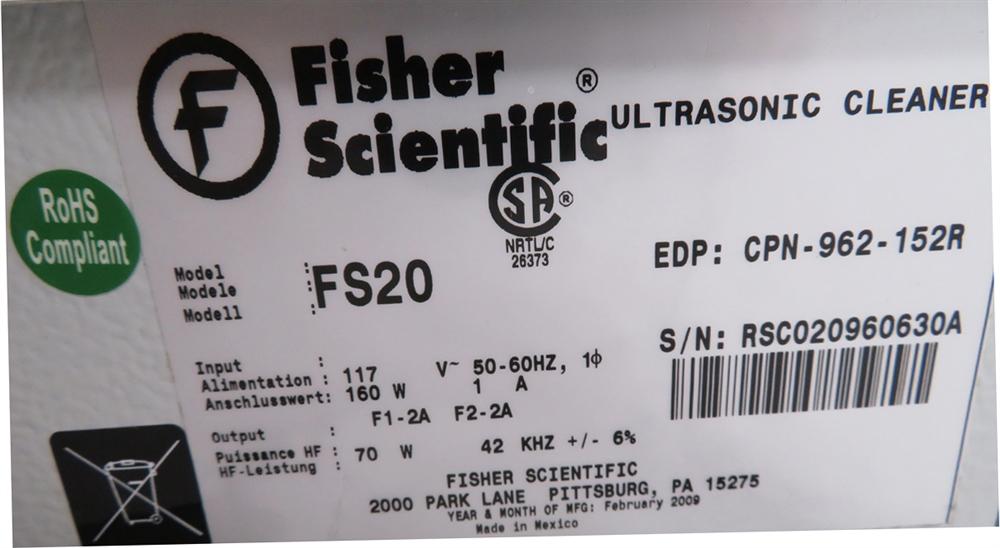 Fisher Scientific FS20D Ultrasonic Cleaner