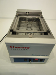 Thermo Scientific Lindberg Blue M Refrigerated Shaking Water Bath, Model # RSWB3222A-1