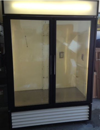 True Double Glass Door Chromotography Fridge