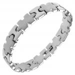 Stainless Steel Puzzle Link Bracelet