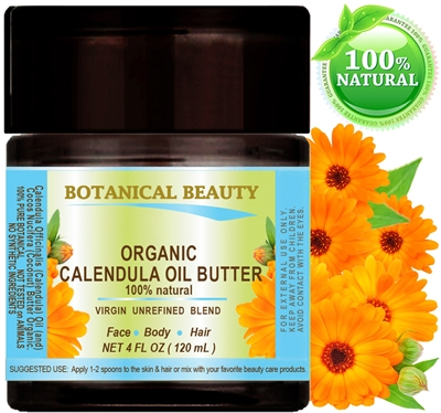 Calendula Oil Butter Organic Botanical Beauty