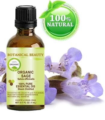 Botanical Beauty SAGE ORGANIC Essential Oil