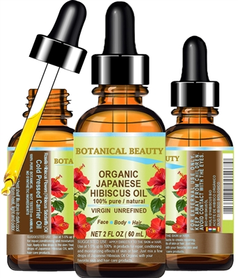 Botanical Beauty Japanese HIBISCUS OIL ORGANIC