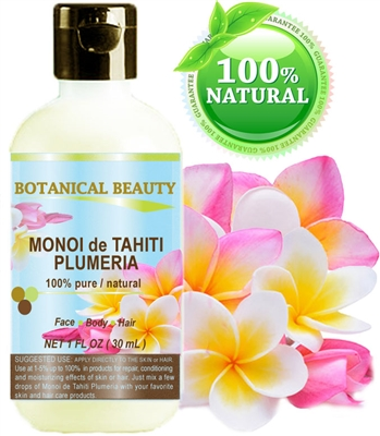 Botanical Beauty MONOI de TAHITI OIL Plumeria