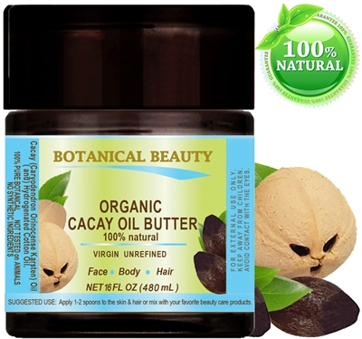 Botanical Beauty Organic CACAY ( Kahai ) OIL BUTTER