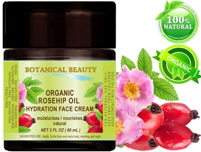 Botanical Beauty ORGANIC ROSE HIP OIL HYDRATION FACE CREAM