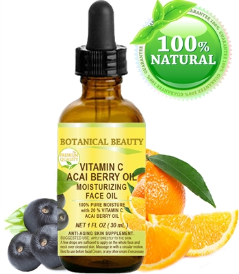 Botanical Beauty VITAMIN C ACAI BERRY Face OIL