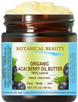 Acai Berry Oil Butter Organic Botanical Beauty