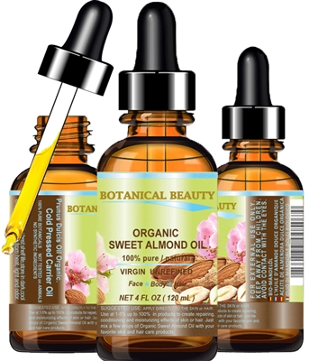 Organic Sweet Almond Oil Botanical Beauty