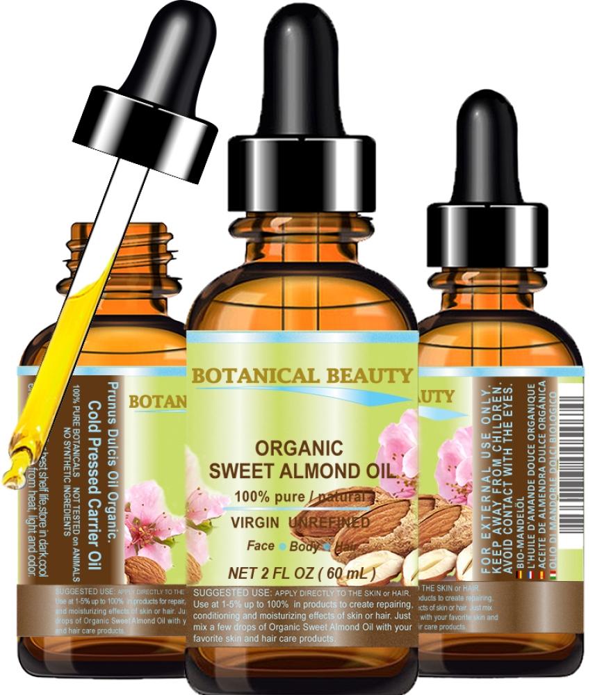 ORGANIC SWEET ALMOND OIL 100% Pure 2 Fl oz - 60 ml