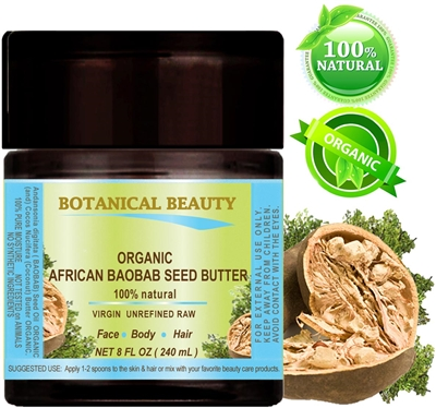 African Baobab Seed Butter Organic Botanical Beauty