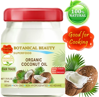 Coconut Oil Organic Fair Trade Botanical Beauty