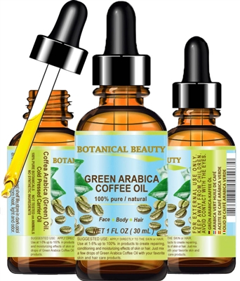 Green Arabica Coffee Oil Brazilian Botanical Beauty