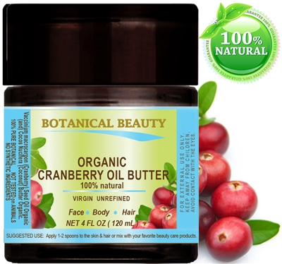 Cranberry Seed Oil Butter Organic Botanicals Botanical Beauty