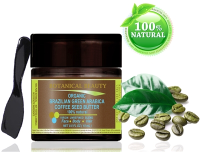 Green Arabica Coffee Seed Butter Organic Brazilian Botanical Beauty