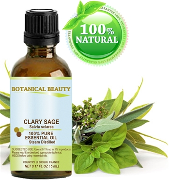 Clary Sage Essential Oil Botanical Beauty