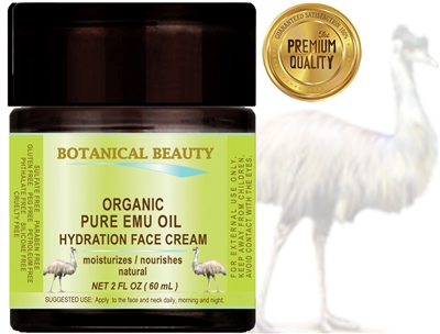 Botanical Beauty ORGANIC EMU OIL HYDRATION FACE CREAM