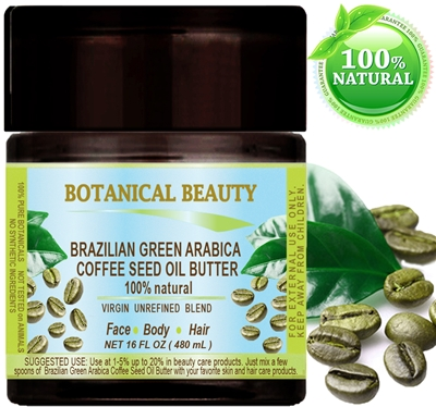 Botanical Beauty GREEN ARABICA COFFEE SEED OIL BUTTER Brazilian