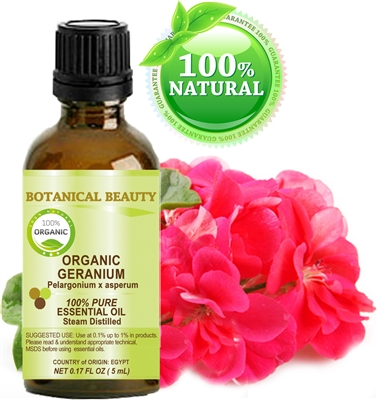 Botanical Beauty ORGANIC GERANIUM Essential Oil