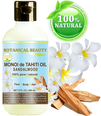 Botanical Beauty Monoi de Tahiti Oil Sandalwood