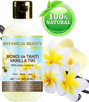 Botanical Beauty MONOI de TAHITI OIL Vanilla Tiki
