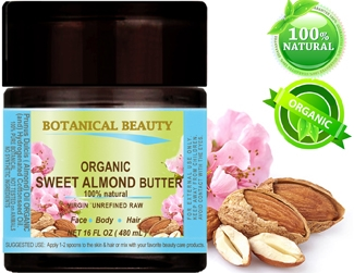 Botanical Beauty ORGANIC SWEET ALMOND oil BUTTER