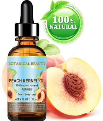Botanical Beauty PEACH KERNEL OIL  100% Pure