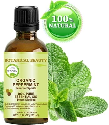 Organic Peppermint Essential Oil Botanical Beauty