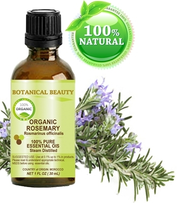 Botanical Beauty ORGANIC ROSEMARY Essential Oil