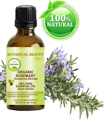 Organic Rosemary Essential Oil Botanical Beauty